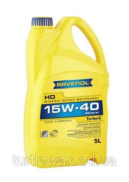 Масло мотор. RAVENOL Turbo-C HD-C SAE 15W-40, 5л