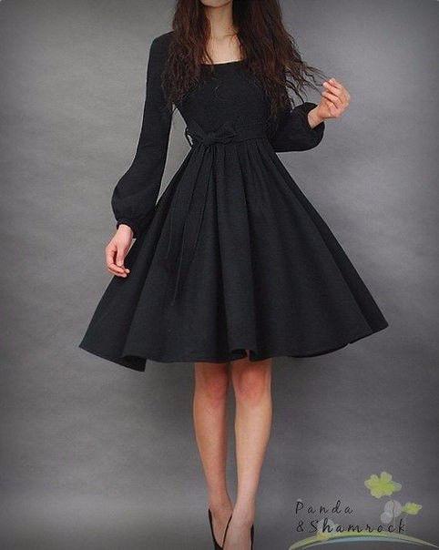 ca69db3144e Платье миди с длинными рукавами
