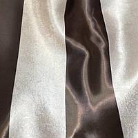 Ткань  блекаут полоса крем+венге,  высота 2.8м