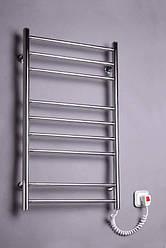 Полотенцесушитель Лесенка-9 880х480 нержавейка с регулятором на вилке