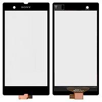 Сенсор (тач скрин) SONY Xperia Z C6602 L36h, C6603 L36i, C6606 L36a black (оригинал)
