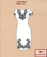 Заготовка на платье женское с коротким рукавом ПЖкр-188. МЕРЕЖКА