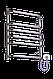 Полотенцесушитель Стандарт-6 635х480 нержавейка с регулятором температуры, фото 3