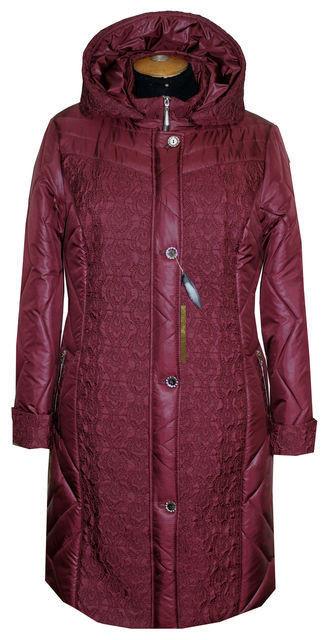 Демисезонное женское пальто батал