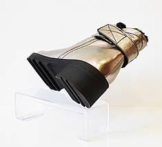 Ботинки зимние серебристые Aquamarin 408, фото 3