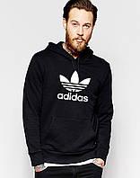 Худи Adidas | Мужская толстовка | Кенгурушка - большой принт