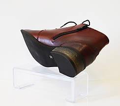 Ботинки женские бордовые Vento 1114, фото 3