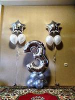 №41 Фольгированная цифра на подставке из шаров
