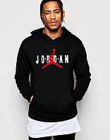 Худи Jordan | Мужская толстовка | Кенгурушка чёрная, красный Джордан