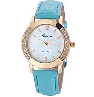 Часы женские наручные голубые арт. 025
