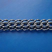 Серебряная цепочка мужская, 600мм, 27,4 грамма, плетение Питон, фото 3
