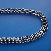 Серебряная цепочка мужская, 600мм, 27,4 грамма, плетение Питон
