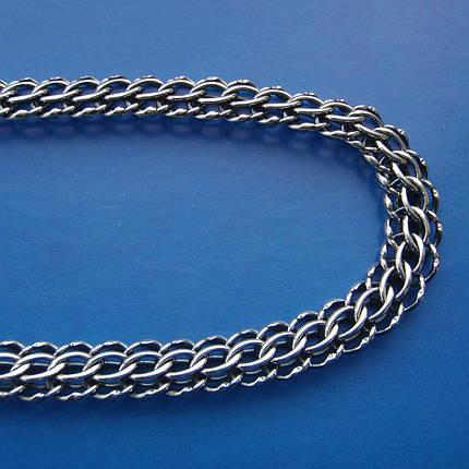 Серебряная цепочка мужская, 600мм, 27,4 грамма, плетение Питон, фото 2