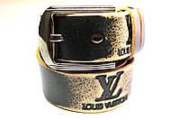 Ремень черный брендовый 'Louis Vuitton' 40 мм