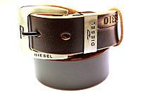 Брендовый темно-коричневый ремень 'Diesel'