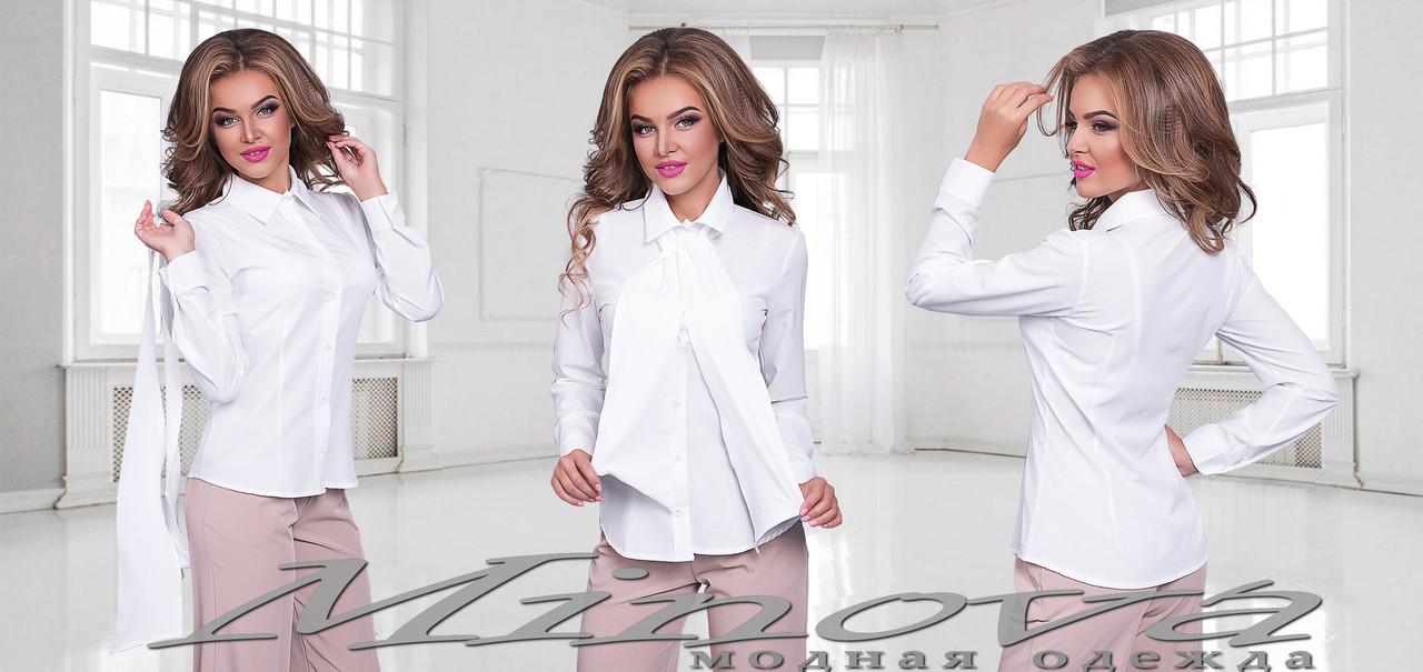 625eeeb6714 Женская рубашка с съёмным галстуком в тон - купить лучшая цена в ...