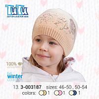 """Шапка для девочки из новой коллекции """"TuTu"""" арт. 13.3-003187"""