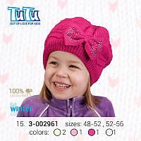"""Шапка для девочки из новой коллекции """"TuTu"""" арт.15. 3-002961"""