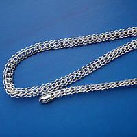 Серебряная цепочка мужская, 650мм, 29 грамм, плетение Питон