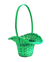 Корзина для цветов  зеленая 29х22см