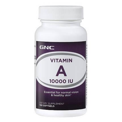 Vitamin A 10000 GNC caps 100, фото 2