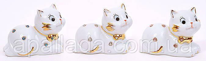 Статуэтка фарфоровая Кошка со стразами