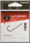 Крючки Metsui Long Plainshank № 10 - Южная Корея
