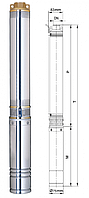 Глубинный насос Aquatica центробежный ф75 250Вт 42м 45л/мин