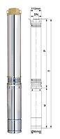 Глубинный насос Aquatica центробежный 380В 4000Вт 245м 140л/мин+ПЗУ
