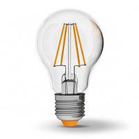 LED лампа Filament светодиодная VIDEX A60F 7W E27 4100K 220V