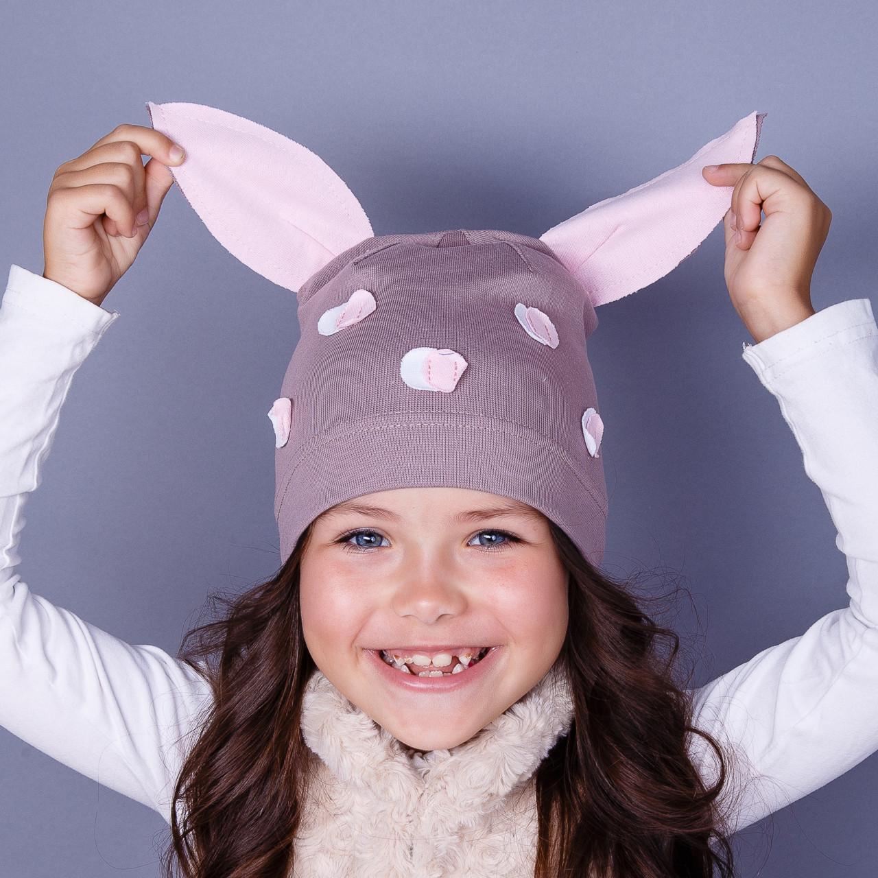 Модная шапка для девочек оптом - Пеппа - весна-осень  - Артикул 1784