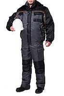 "Куртка утепленная ""СПЕЦ"" (цвет: серый с черным)"