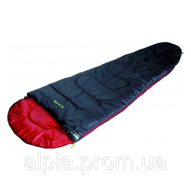 Cпальный мешок-кокон High Peak Action 250/+4°C (Right) Black/red