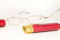 Модные очки с пластиковой линзой  +2.0 комплектуются футляром, фото 1