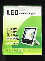 Прожектор светодиодный LED уличный 100W 10000LM 6500K
