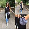 Жилет-пальто с мехом чернобурки, фото 2