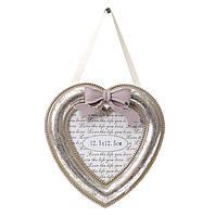 Рамка для фото деревянная в форме сердца