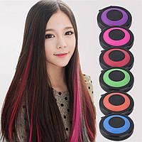 Цветная пудра ( Мелки ) для волос Hot Huez, 6 кольорів
