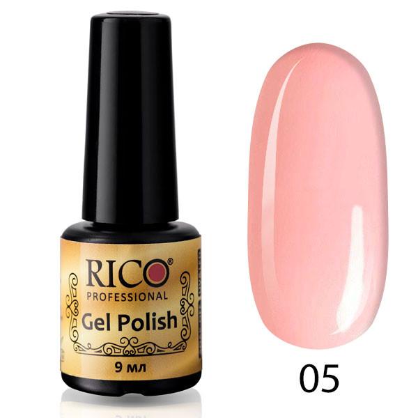 Гель-лак Rico Professional №005 (холодный розовый, эмаль) 9 мл