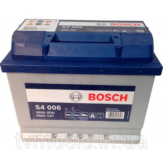 Аккумулятор Bosch S4 006 Silver 60Ah 12V (0092S40060)