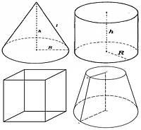Чехлы из пвх ткани: куб, конус, усечённый конус, цилиндр и др.