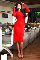 Платье ангоровое миди 7058 ш