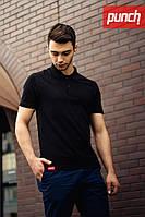 Мужская черная футболка поло Punch - Noir