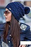 """Женская модная вязанная шапка с помпоном """"Коса"""" (расцветки), фото 7"""
