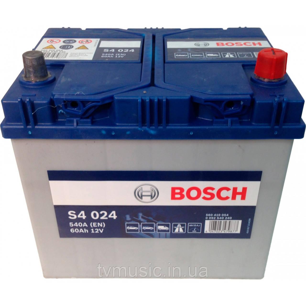 Аккумулятор Bosch S4 024 Silver 60Ah 12V Азия (0092S40240)