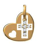 Подвеска серебряная Крест в Сердце 5016, фото 3
