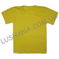 Однотонная футболка на рост 128-140 см
