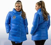 Теплая куртка женская большого размера