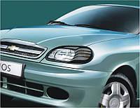 Защита передних фар Daewoo Lanos, Sens 1997+ Део Ланос, Сенс