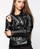 Куртка косуха экокожа | Косуха leo черный